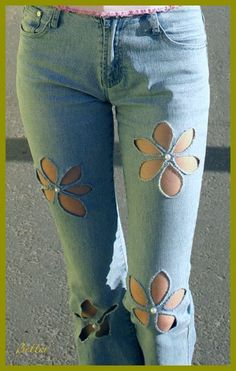 Sewing Jeans Hole Ideas For 2019 Artisanats Denim, Denim Shirts, Raw Denim, Estilo Jeans, Diy Vetement, Mode Jeans, Denim Ideas, Denim Crafts, Recycle Jeans