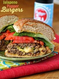 Jalapeño Popper Burgers - wearychef.com