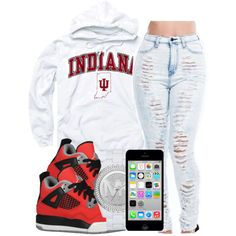 A fashion look from May 2014 featuring hooded pullover sweatshirt, highwaist jeans and logo jewelry. Browse and shop related looks. Swag Outfits For Girls, Cute Swag Outfits, Dope Outfits, Trendy Outfits, Summer Outfits, Girl Outfits, Fashion Outfits, School Outfits, Dope Fashion