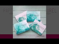 Easy Layered Stamp Stamping with Distress Inks: Layered Waves - YouTube  #laurelbeard #simplycardmaking @thetonstamps #handmadecards #layeredstamping #watercoloring #distressinks #video #youtube #gesso #texture #foiling #transfergel #decofoil #layeredwaves