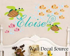 Nursery Wall Decal   Under The Sea   Oceanic Wall Decal   Fish Wall Decal On Part 89