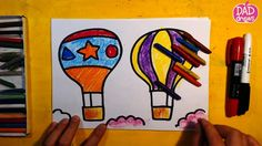 How to draw a Hot Air Balloon / Art for Kids