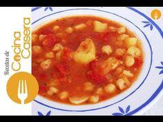 Sopa de garbanzos - Recetas de Cocina Casera - Recetas fáciles y sencillas