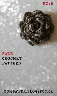 Rose - Crochet Flower Embellishment