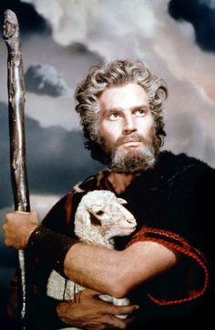 Charlton Heston as Moses for The Ten Commandments directed by Cecile B. DeMille, 1956