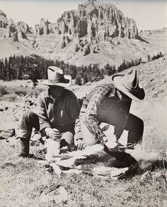 Branding on the Pitchfork Ranch photo Charles Beldon c. 1911