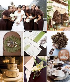 Winter Wedding with Pine Cones {inspirationboard} - Brenda's Wedding Blog - unique daily wedding blogs from Best Wedding Sites for brides & grooms