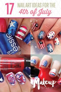 4th Of July Nail Art | Easy and Cute DIY Manicure to Try by Makeup Tutorials at http://makeuptutorials.com/17-ideas-for-4th-of-july-nails/