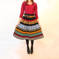 '70s Knit Folk Geometric Skirt, $108, now featured on Fab.
