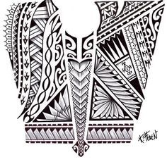 polynesian designs and patterns | Beautiful Design for Maori Tattoo mixing several Symbols, lines of ...