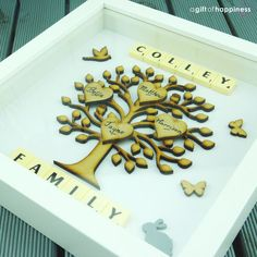 Family tree frame Family tree scrabble wall by agiftofhappiness