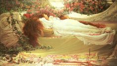 "Thomas Ralph Spence (1855 - 1918)~ ""Sleeping Beauty"""
