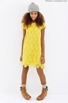 French Connection Yellow Lace Dress (8-15yrs)