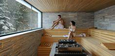 Hotel with Sauna Obereggen in the Dolomites Sauna Design, Home Gym Design, House Design, Design Design, Interior Design, Sauna Hammam, Spa Sauna, Sauna Shower, Sauna Steam Room
