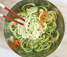 Noodles de calabacín y zanahoria