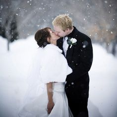 Whether rain, shine, or snow, we hope brides are keeping warm this season! #weddingwednesday #wedding