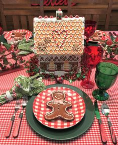 Gingerbread with the Elves — Whispers of the Heart Christmas Table Settings, Christmas Tablescapes, Christmas Table Decorations, Christmas Themes, Christmas Crafts, Holiday Ideas, Gingerbread Christmas Decor, Gingerbread Decorations, All Things Christmas