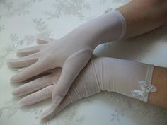 Bridal organza gloves Ivory organza gloves until by DesignByIrenne