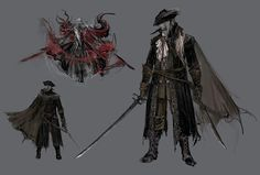 View an image titled 'Lady Maria of the Astral Clocktower Art' in our Bloodborne art gallery featuring official character designs, concept art, and promo pictures. Bloodborne Maria, Bloodborne Game, Bloodborne Concept Art, Character Portraits, Character Art, Dark Souls Art, Cool Monsters, Soul Art, Fantasy Weapons