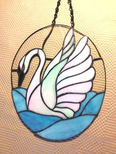 Stained Glass Swan Suncatcher Panel Handmade Ready for Valentines Mothers Day | eBay
