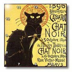 Le Chat Noir Wall Clock