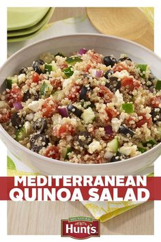 A side dish should always compliment the main course, but who said it can't be just as good too? Add even more flavor to dinner with Mediterranean Quinoa Salad, packed with Hunt's vine-ripened tomatoes. Check out the recipe and give yourself a whole bowl of good food.
