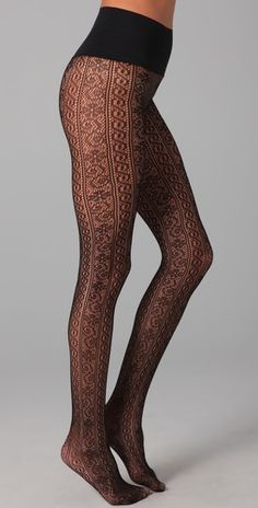 patterned winter tights