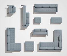 Paramount Right Sectional Sofa - Hero Image