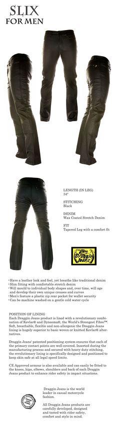 Draggin jeans slix Motorcycle Jeans, Bikers, Black Denim, Closet, Men, Male Style, Armoire, Closets, Guys