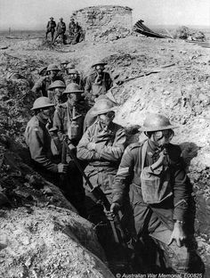 WWI; Anzacs prepare for mustard gas