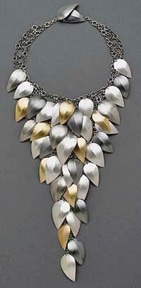Leaf Necklace by Lynn Cristiansen. Sterling silver and 24k gold. www.lynnchristiansen.com