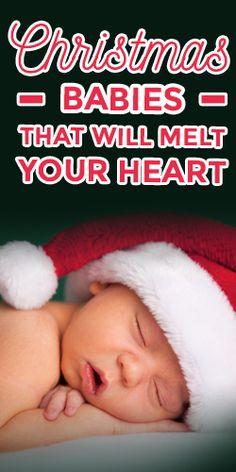 Baby's First Christmas-- so heartwarming! #newborn #christmas