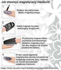 Czy już macie w swojej kolekcji lakiery Magnetic You?    ak stworzyć magnetyczny manicure?  Użyj jednego z lakierów magnetycznych w 4 kolorach oraz magnesu dostępnych w najnowszej kolekcji Lovely, Magnetic You.