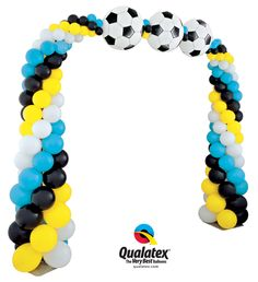 """The """"Superstar Soccer Arch"""" can easily be customized with team colors for a fun decor idea."""