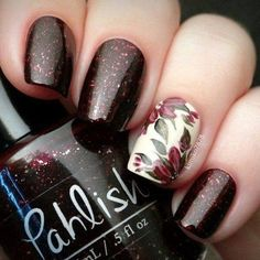 Today we have 30 of the Best Fall Nail Art Designs! Nail Art is our favorite but fall nail art is even better! We love the fall season and really love the color choices that these lovely nails utilize to create the vibe. Flower Nail Designs, Simple Nail Art Designs, Best Nail Art Designs, Flower Nail Art, Fall Nail Designs, Easy Nail Art, Floral Designs, Fancy Nails, Cute Nails