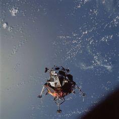 Apollo 9 Lunar Module maneuverability test, March 1969 [904x904]