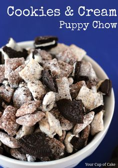 Cookies & Cream Puppy Chow. Why do they make stuff like this?