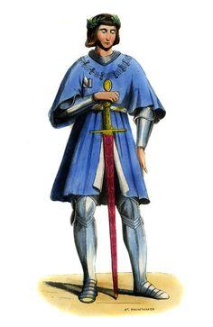 """Gaston de Foix - male costume of 15th century"""