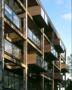 Private Award Highly Commended 2007 Location: Cambridge Building Owner: Chris Cook, Countryside Properties Architect: Feilden Clegg Bradley Architects Builder/Main Contractor: Kajima Construction Structural Engineers: Richard Jackson Joinery: Oakwrights, KL Design, Idea-Combi, Futura Composite Wood Species: Green Oak This is a strategically important new residential quarter, sited on Cambridge's last major undeveloped brownfield site in a key position between the city and open fields. The…