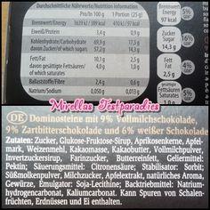 Die Zutaten und Nährwertangaben der Aachener Dominosteine von Lambertz. #Lambertz325