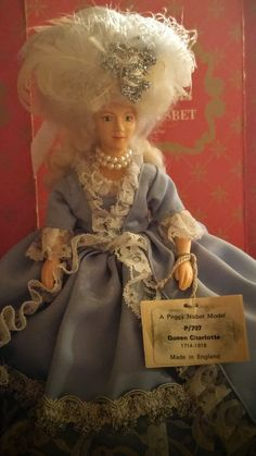 From MY Personal Peggy Nisbet Doll Collection. QUEEN CHARLOTTE - wife and queen consort of King George III (Numbered#P-707.)