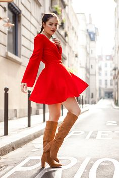 Robe porte feuille rouge coquelicot http://poldine-paris.fr/ Made in France  Photo: Nidimages works