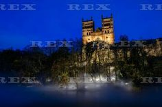 Lumiere Festival, Durham, Britain - 13 Nov 2015  Durham Cathedral and the banks of the River Wear are illuminated with mist as part of the 2015 Lumiere Durham Light Festival 13 Nov 2015