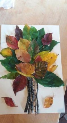 Kids Crafts, Easy Fall Crafts, Leaf Crafts, Fall Crafts For Kids, Toddler Crafts, Art For Kids, Art Children, Tree Crafts, Autumn Art Ideas For Kids