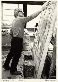Willem de Kooning, 1972. Hans Namuth.