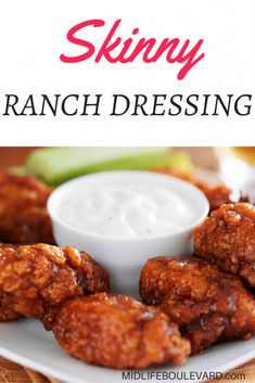 Skinny weight watchers ranch dressing recipe, An easy dressing or dip, healthy and low calorie.