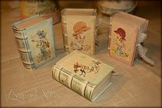 Old / antique books favor boxes - Sarah Kay - Vintage wedding stationery - Beyond Verve