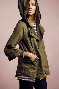 Camouflaged Lace Anorak #anthropologie #anthrofave