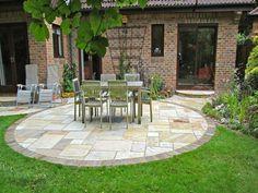 back garden paving - assorted tiles | house ideas | pinterest ... - Do It Yourself Patio Ideas