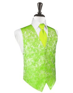#Formal events don't need to be a drag. Complement your cheery personality with this Lime Green Tapestry #TuxedoVest!